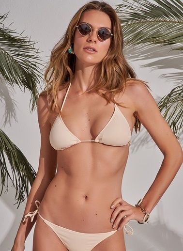 Morhipo Beach Üçgen Bikini Somon